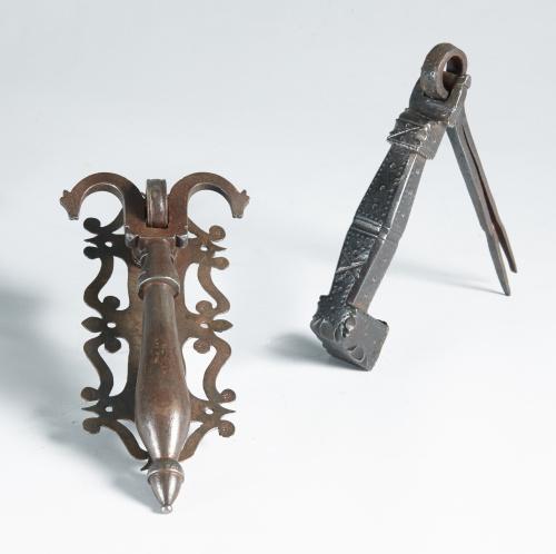Llamador de hierro forjado. Trabajo español XVII