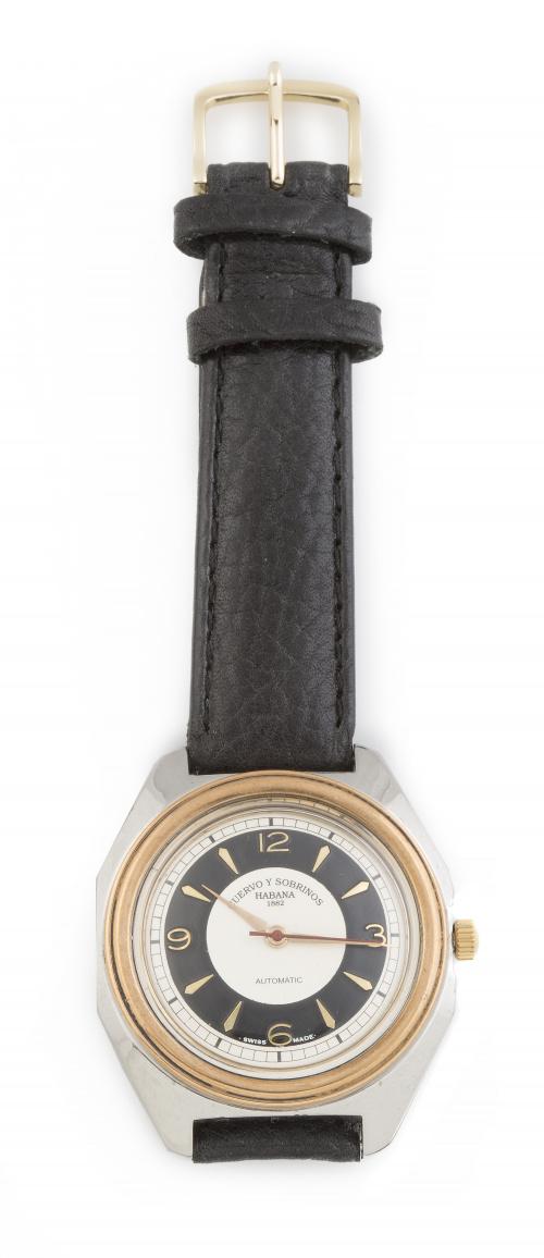 Reloj CUERVO y SOBRINOS años 50 en acero y dorado combinados