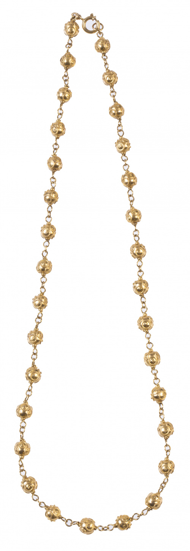 Collar Portugués S. XIX con esferas adornadas con filigrana