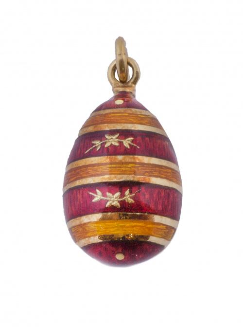 Colgante en forma de huevo FABERGÉ de franjas horizontales