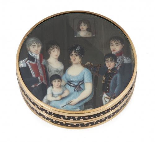 ESCUELA ESPAÑOLA, h. 1802-1805Retrato de familia