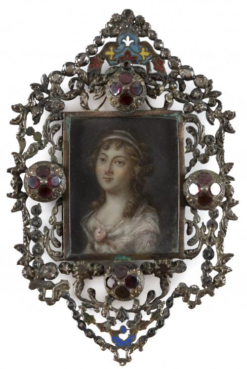 ESCUELA FRANCESA, SIGLO XVIIIRetrato de la Condesa de Carba