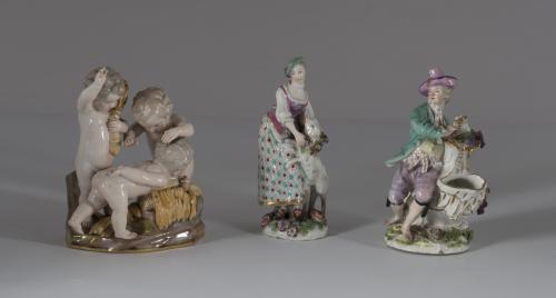 """""""Alegoria del verano"""" Grupo escultórico de porcelana esmal"""
