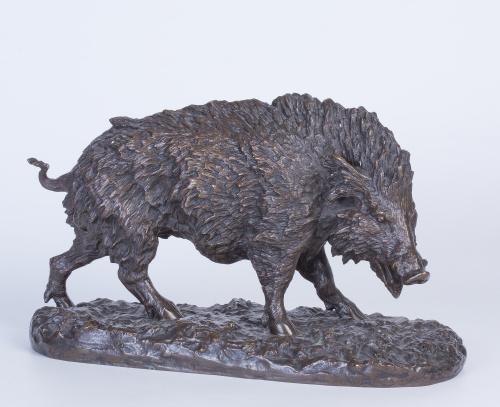 Jabalí en bronce, S. XIX
