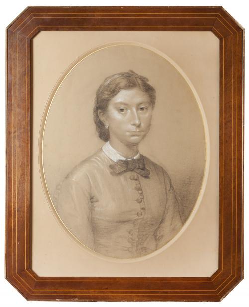 ROMAIN CAZES (1808-1881), ROMAIN CAZES (1808-1881)Retrato