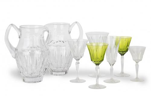 Cristalería de Val Saint Lambert en vidrio transparente y v