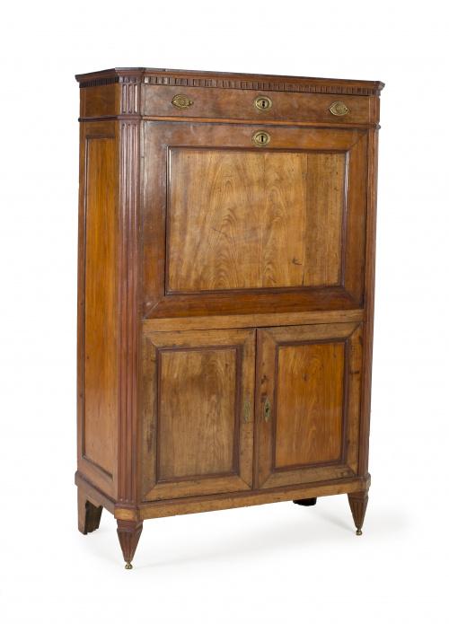 "Secretaire ""a abattant""  estilo Luis XVI en madera de caoba"