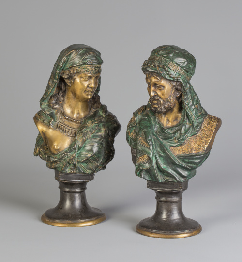 J. Boese (1856-1927)Firmado J. Boese.Pareja de bronces