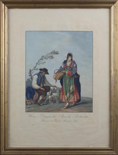 """SEGÚN PINELLI"""" Uomo e Donna del Paese di Belmonte, provin"""