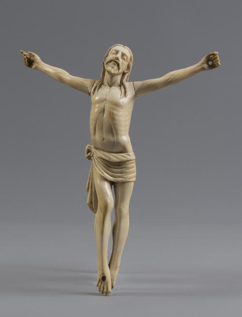 Cristo expiranteEscultura en marfil talladoEscuela colo