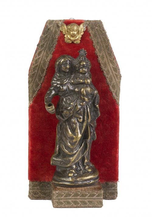 Virgen con Niño en bronce, S. XVII