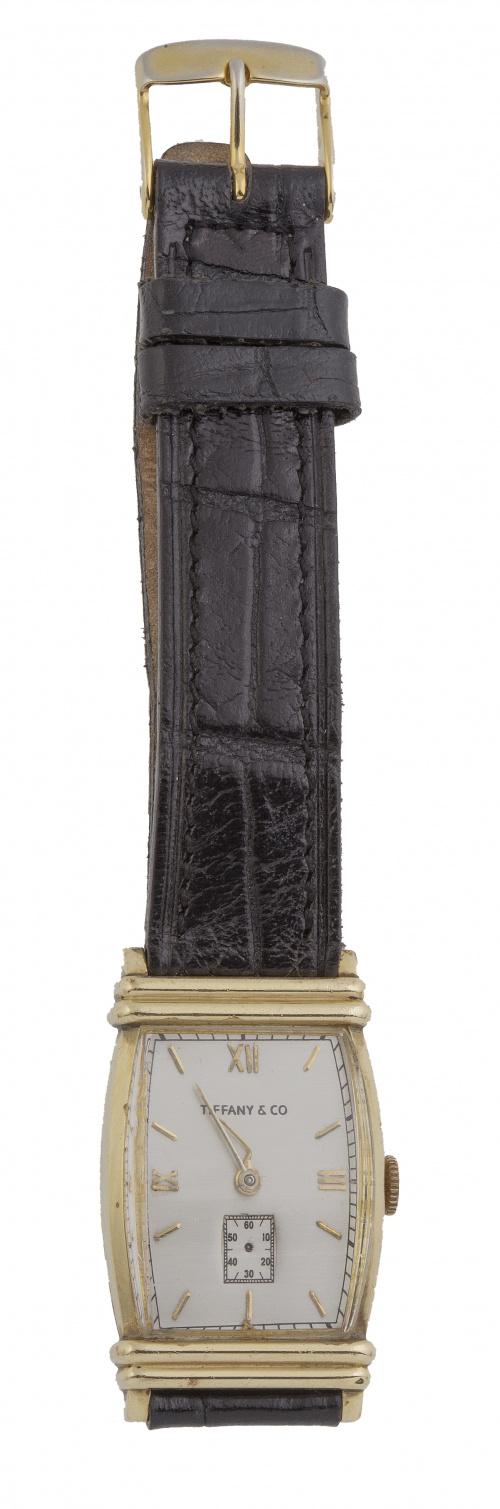 Reloj TIFFANY & CO plaqué or años 30