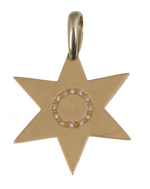 Colgante en forma de estrella de seis puntas con circulo de