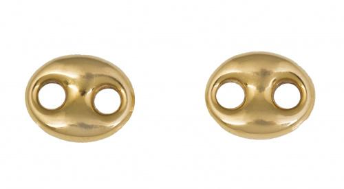 Pendientes con diseño de eslabón calabrote en oro amarillo
