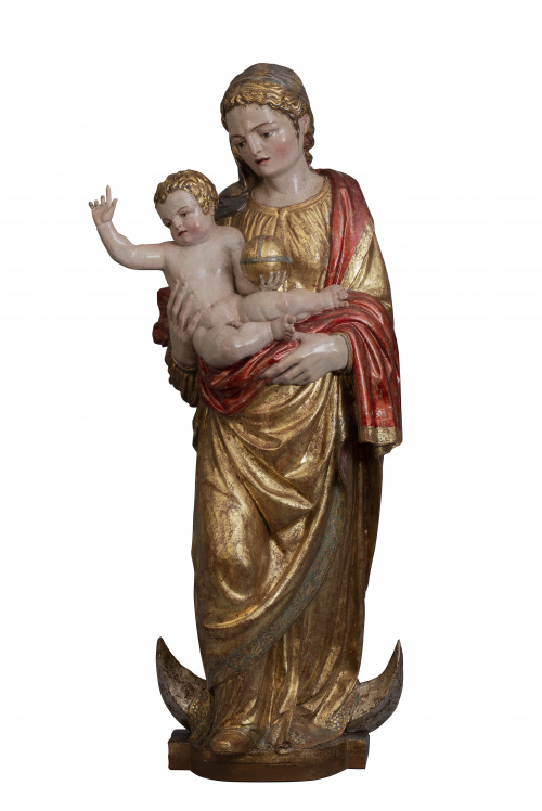 """Arnao de Bruselas (c. 1515 - c. 1565)""""Virgen con el niño"""""""