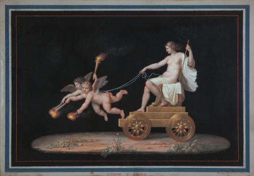 MICHELANGELO MAESTRI (Roma, 1741-1812)Union d´amore