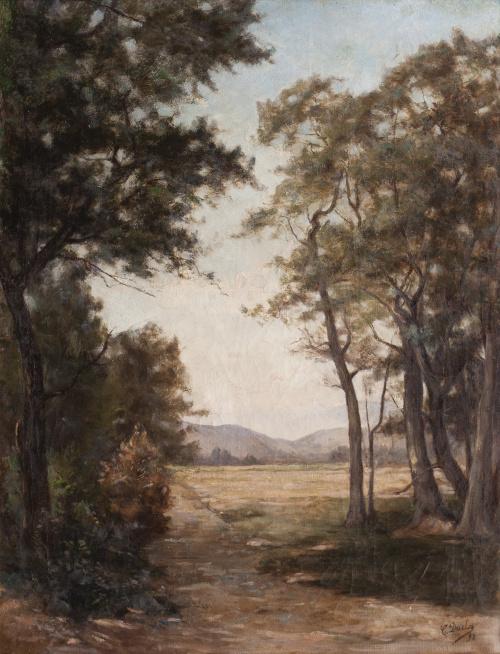 ESCUELA FRANCESA, SIGLO XIXPaisaje con árboles
