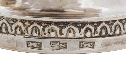 Escribanía de plata en su color.Madrid, Villa y Corte, Ma