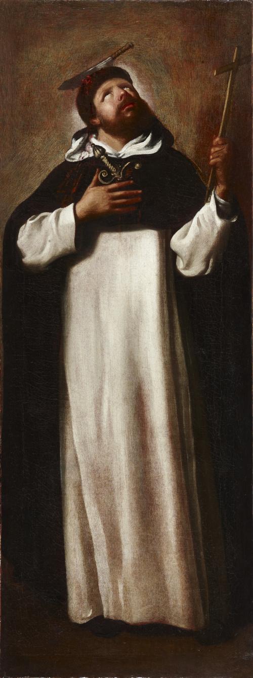 ESCUELA VALENCIANA, SIGLO XVIISan Pedro de Verona y Santo