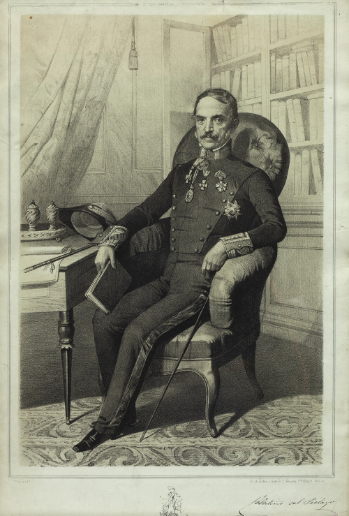 CARLOS MÚGICA Y PÉREZ (1821-1892)Retrato del brigadier de