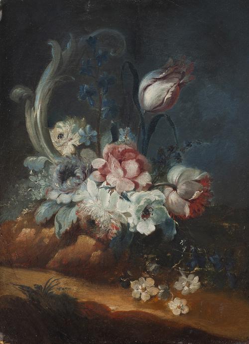 BENITO ESPINÓS (Valencia, 1748- 1818)Florero de rosas, li
