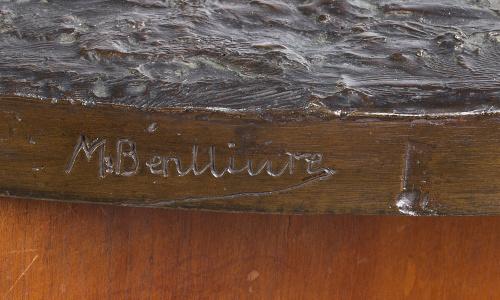 Mariano Benlliure (1862-1947).Toro con estocada.Escultu