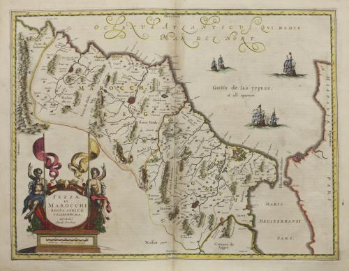 WILLIAM Y JOHAN BLAEU (1588- 1664)Mapa de los antiguos re