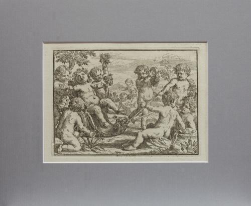 "GIACINTO GIMIGNANI (1606- 1681)Puttis: ""Scherzi e givochi"
