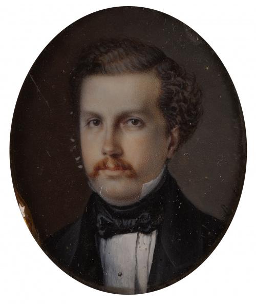 G. MUÑOZ (Escuela española, siglo XIX)Retrato de Francisc