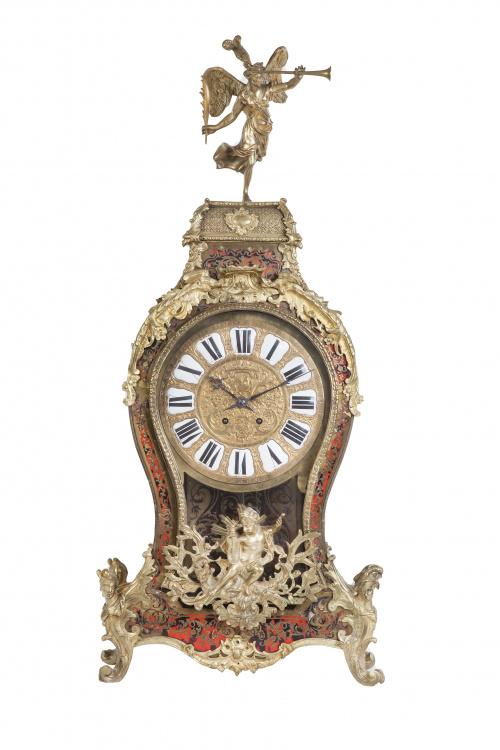 Reloj de estilo Luis XIV de estilo Boulle en bronce dorado