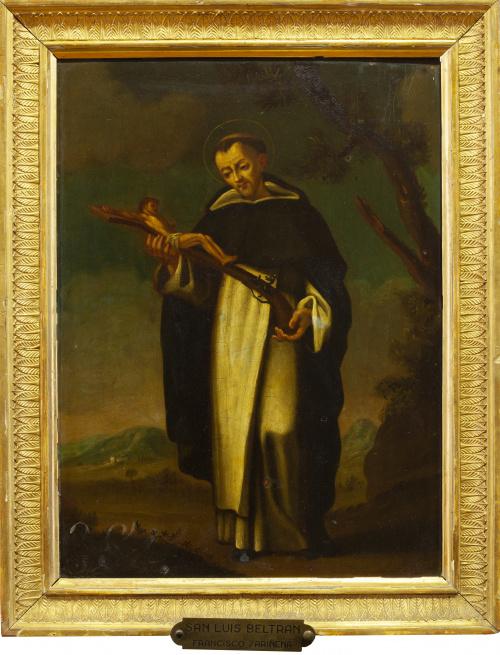 ESCUELA VALENCIANA, SIGLO XVISan Luis Beltrán sobre un pa