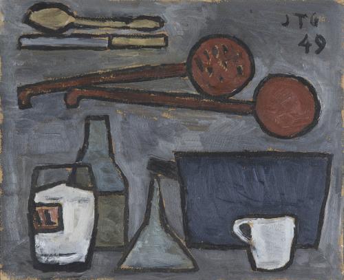 JOAQUÍN TORRES-GARCÍA (Montevideo, Uruguay, 1874 - 1949), J