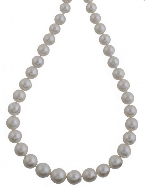 Collar de perlas blancas de los Mares del Sur, con tamaño g