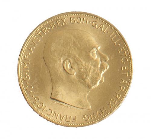 Moneda de 100 coronas austríacas. Francisco José 1915.