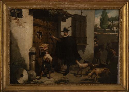 JOSÉ JIMÉNEZ ARANDA (Sevilla,1837 - 1903)Tres escenas del