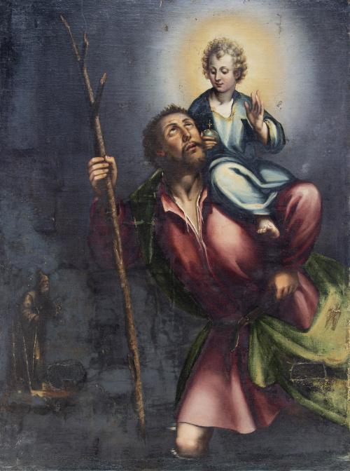 ESCUELA ESPAÑOLA, SIGLO XVIISan Cristóbal, E