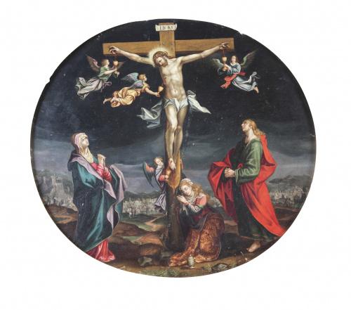 ESCUELA FLAMENCA, H.1600El Juicio Final y la Crucifixión