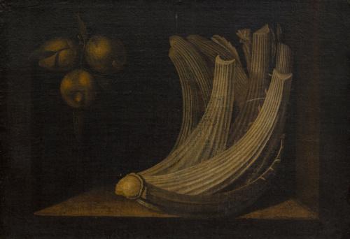 ESCUELA ESPAÑOLA, H. 1700Bodegón con cardo y limones