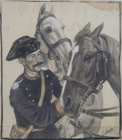 Francisco SARDA LADICO (Barcelona 1877-1912)Militar con cab