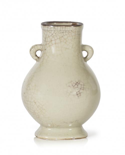 Jarrón en porcelana vidriada. China, S. XIX