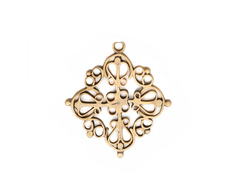 Colgante cruz de calatrava oro posiblemente s.XVIII en oro