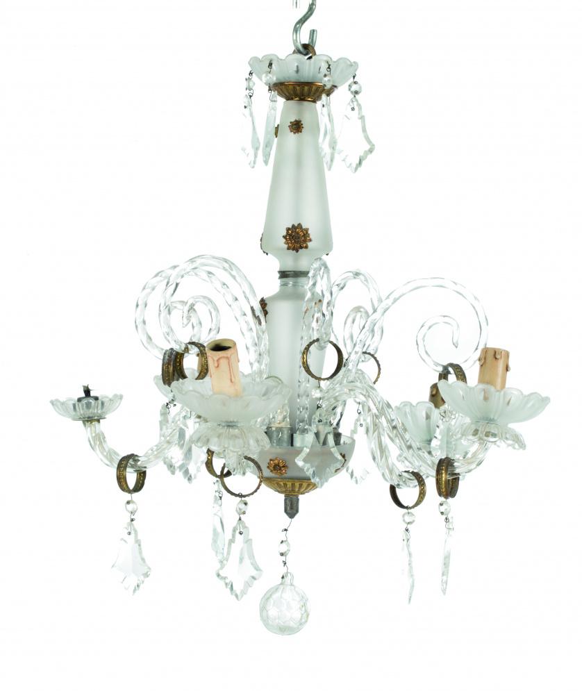 Lámpara de techo de cristal, S. XX