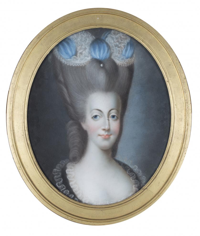 ESCUELA FRANCESA, h. 1800Retrato de dama
