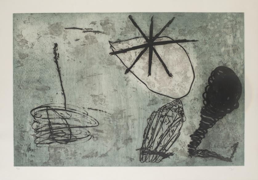 ANTÓN LAMAZARES (Maceira, Pontevedra, 1954)Brasa y baldio
