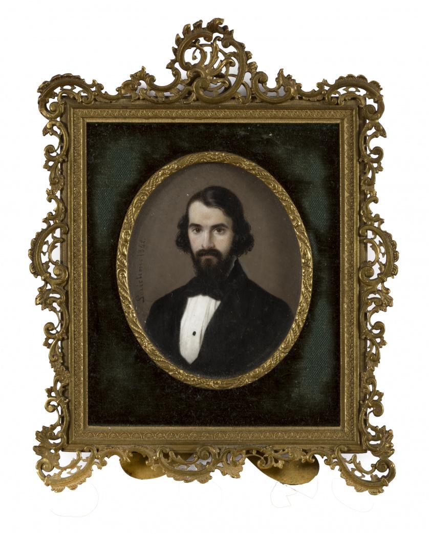 CONSTANT LUIS LORICHON (1800-?)Retrato de caballero