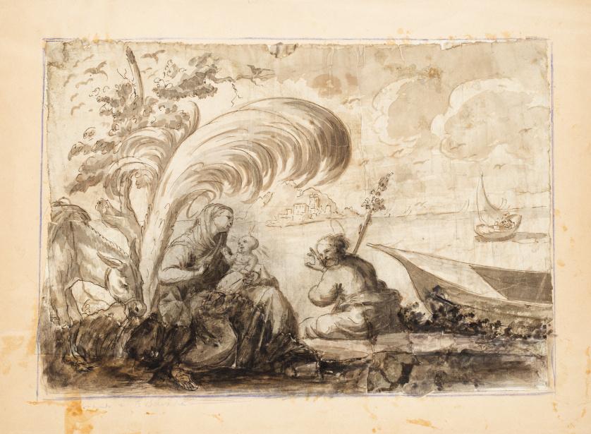 ESCUELA ITALIANA, h.1700Descanso en la huida a Egipto