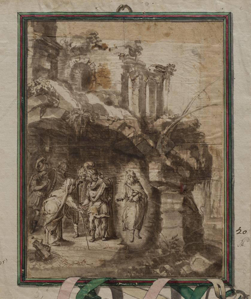 ESCUELA ITALIANA SIGLO XVIIIAparición de Tiresias a Odiseo