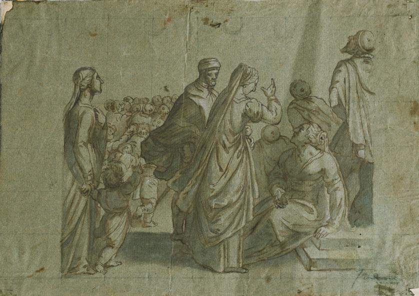 ESCUELA ESPAÑOLA, H. 1800Presentación de Niño en el Templo