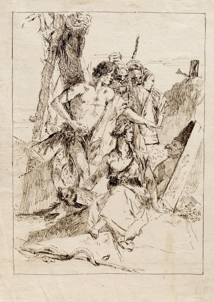 ESCUELA ITALIANA SIGLO XIXEl descubrimiento de la tumba de