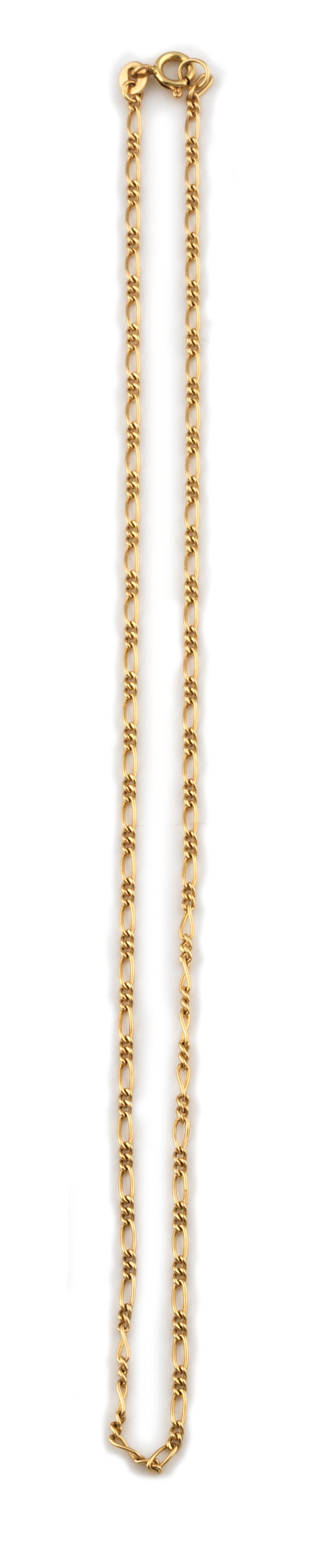 Cadena de eslabón combinado en oro de 18K.